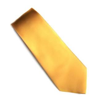 Gold self pattern tie
