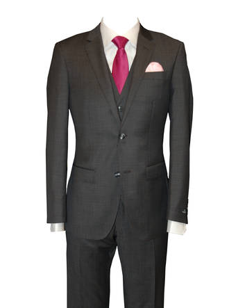 Charcoal Merino slim fit Suit