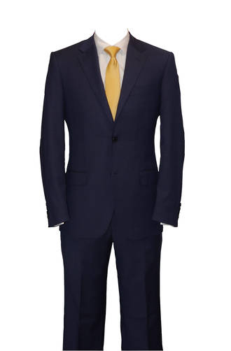 Blue self check slim fit suit