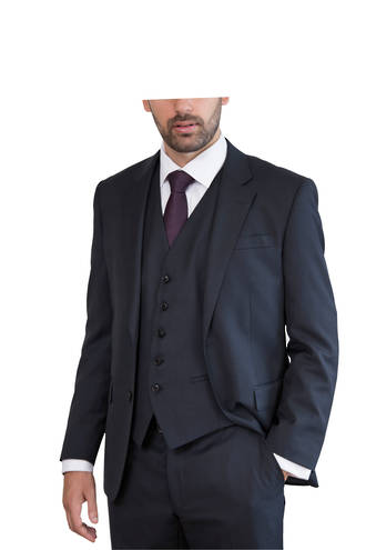 Black Subtle Check slim fit Suit