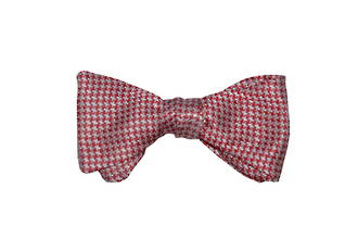 Red houndstooth TYO bow tie