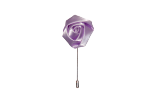 Lavender Satin Flower Lapel Pin