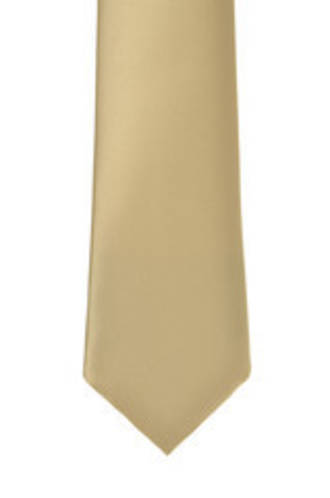 Light Gold Satin Tie