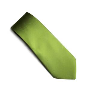 Lime self pattern tie