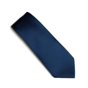 Navy self pattern tie