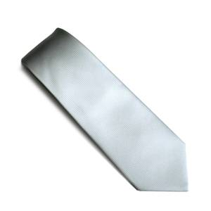 Silver self pattern tie