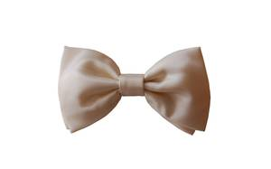 Cream Satin Bow Tie