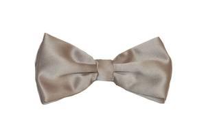 Silver Satin Bow Tie
