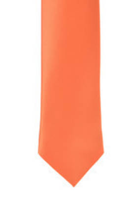 Orange Satin Tie