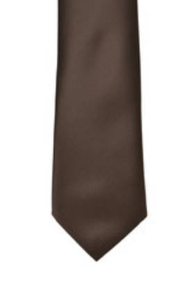 Chocolate Satin Tie