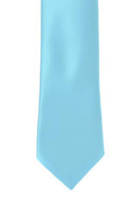Light Aqua Satin Tie