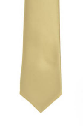 Old Gold Satin Tie
