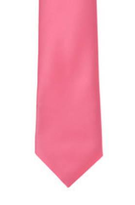 Bright Pink Satin Tie