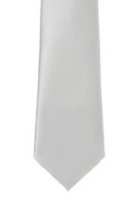 Silver Satin Tie