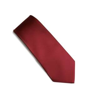 Rich Red self pattern tie
