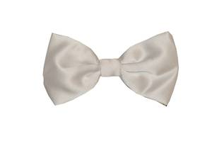 White Satin Bow Tie