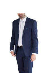 Rich Blue Premium Performance Wool Blend