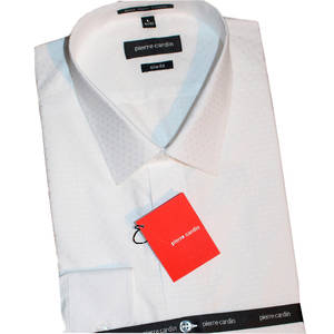 White Self Dobby Neat Peak Collar shirt